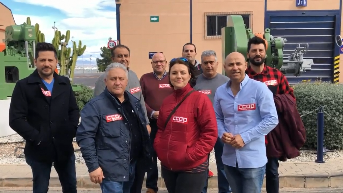 Representantes de CCOO en Crown Food Murcia 2019
