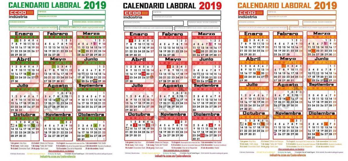 Calendario Laboral De Valencia.Ccoo De Industria